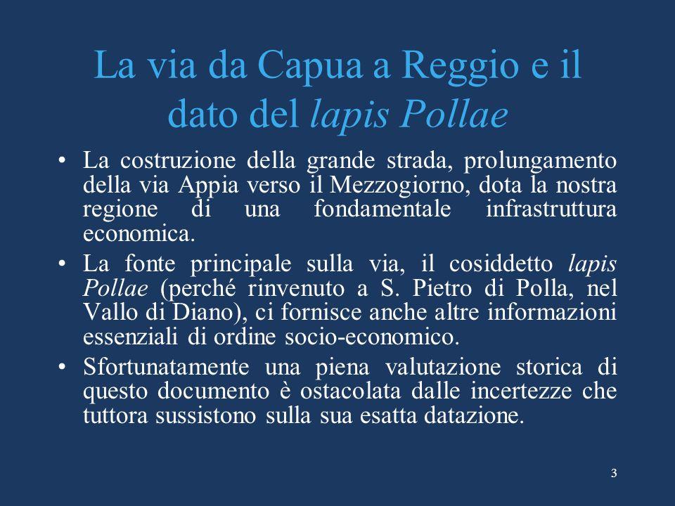 La via da Capua a Reggio e il dato del lapis Pollae
