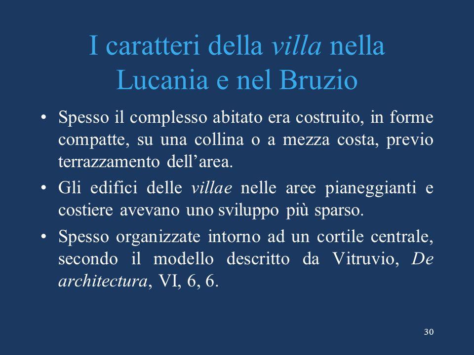 I caratteri della villa nella Lucania e nel Bruzio