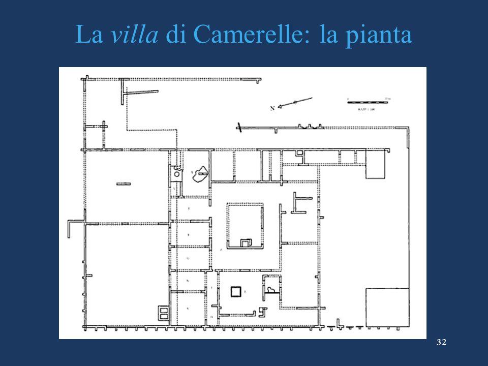 La villa di Camerelle: la pianta
