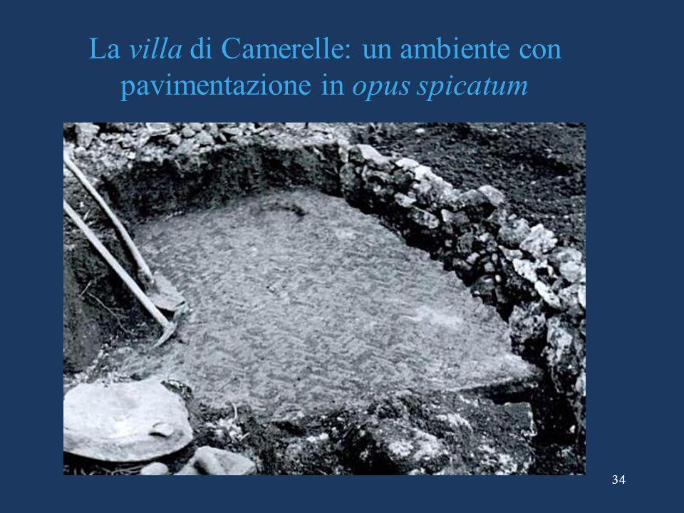 La villa di Camerelle: un ambiente con pavimentazione in opus spicatum