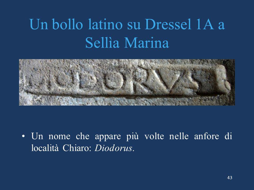 Un bollo latino su Dressel 1A a Sellìa Marina
