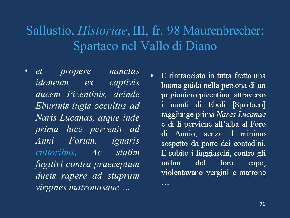 Sallustio, Historiae, III, fr