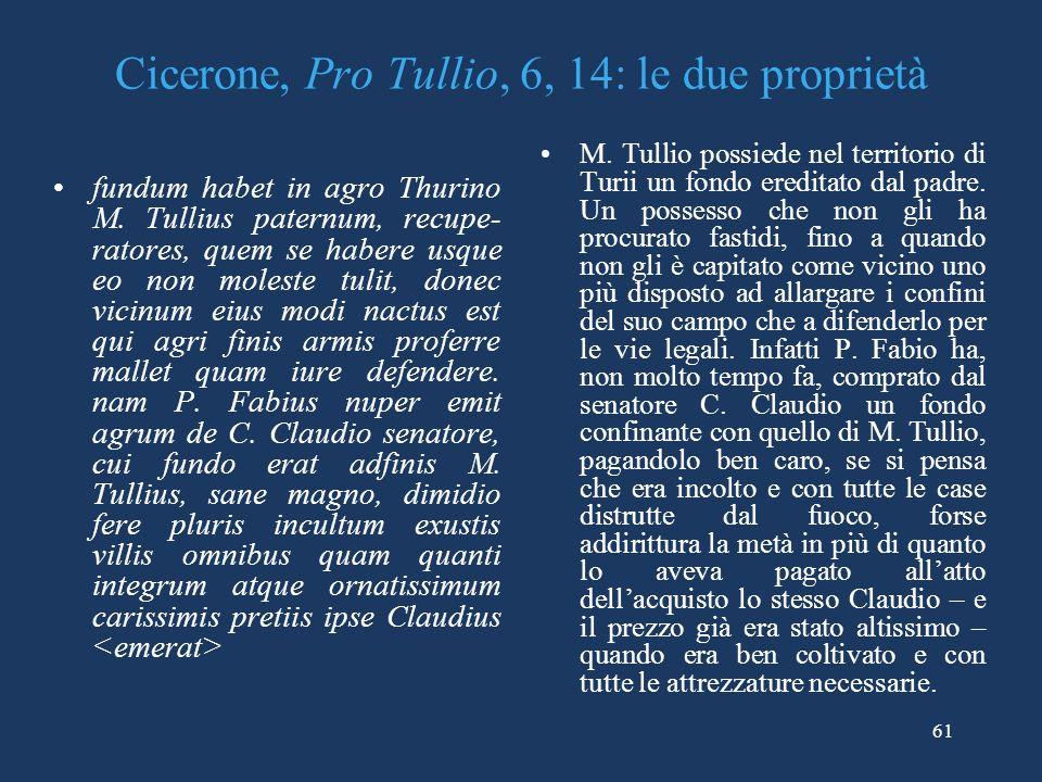 Cicerone, Pro Tullio, 6, 14: le due proprietà