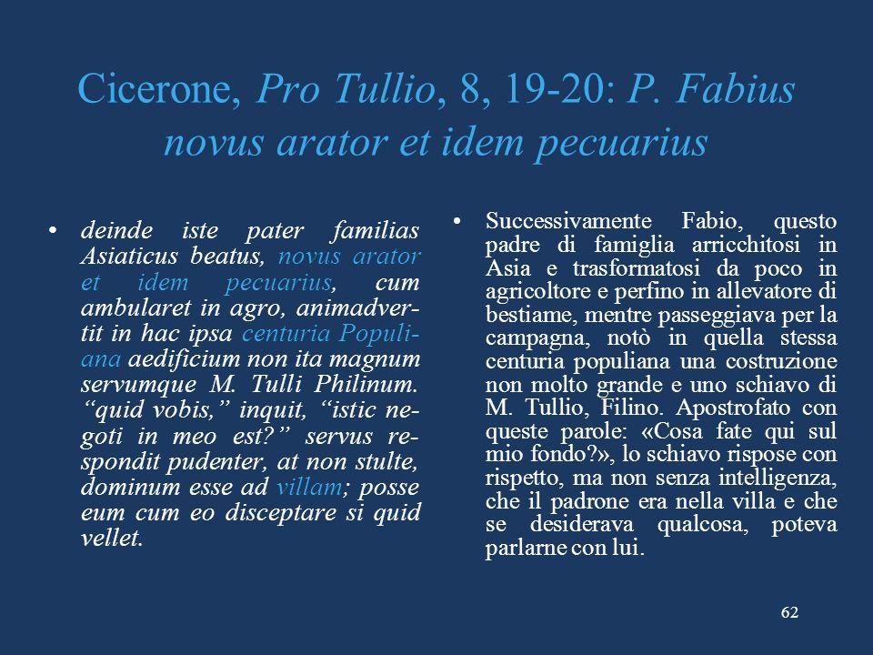 Cicerone, Pro Tullio, 8, 19-20: P