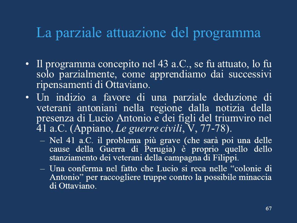 La parziale attuazione del programma