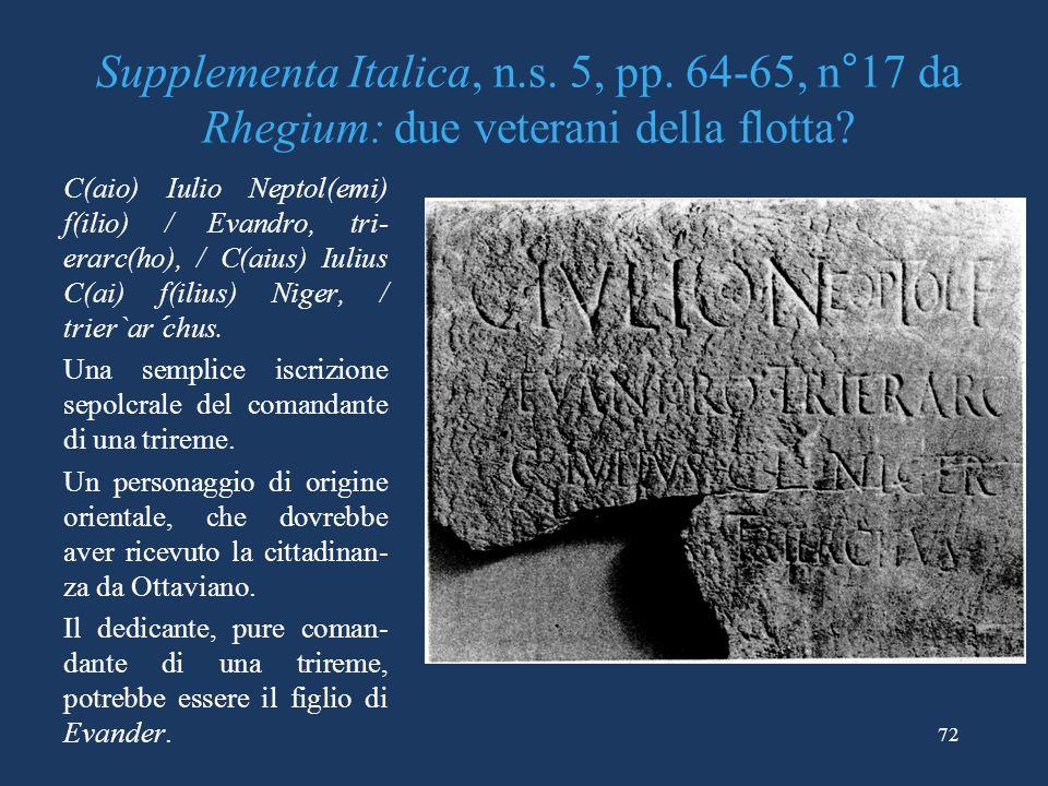Supplementa Italica, n. s. 5, pp
