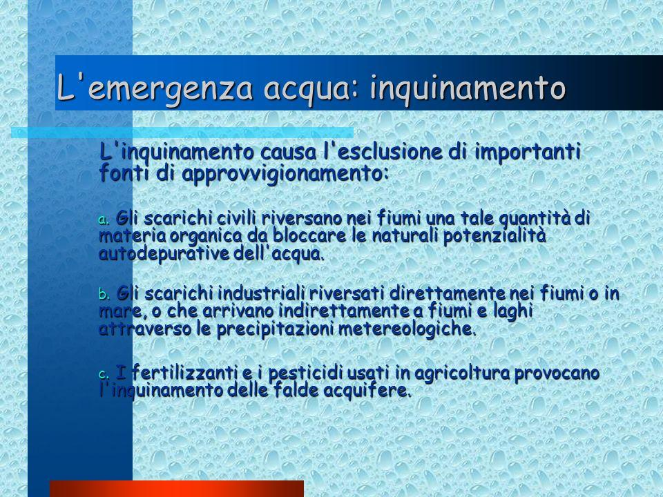 L emergenza acqua: inquinamento