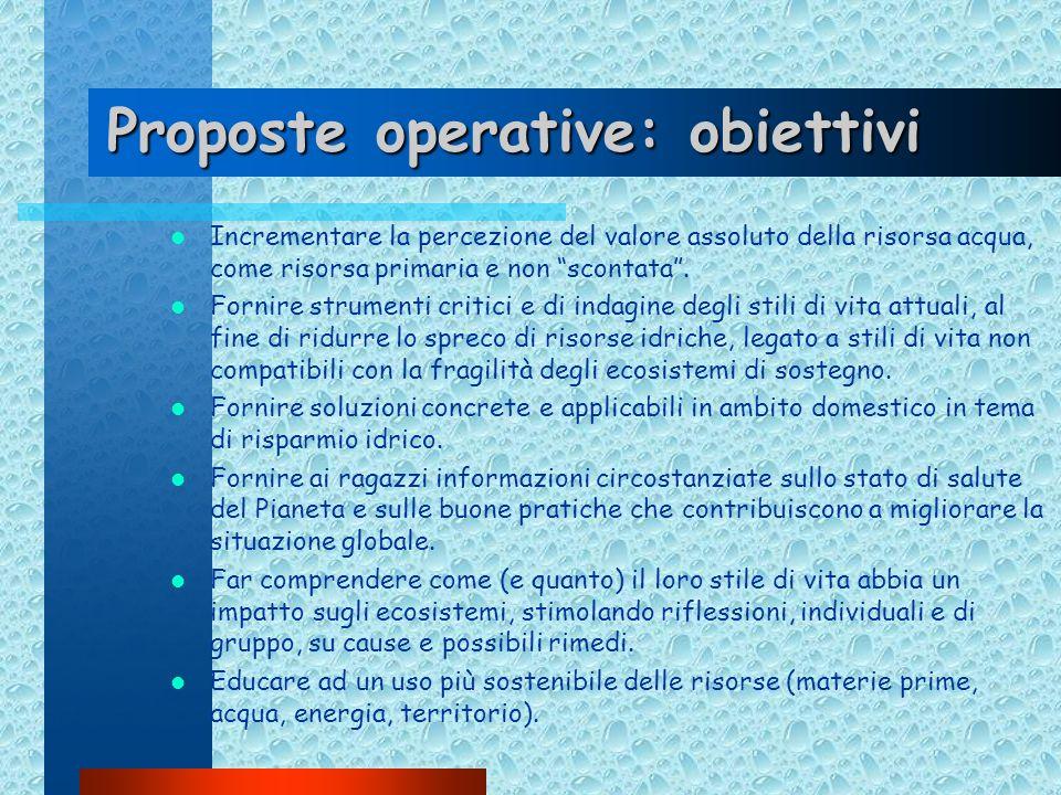 Proposte operative: obiettivi