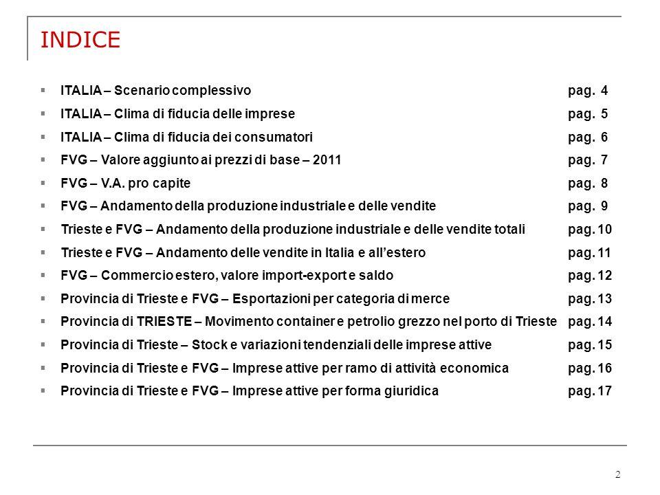 INDICE ITALIA – Scenario complessivo pag. 4