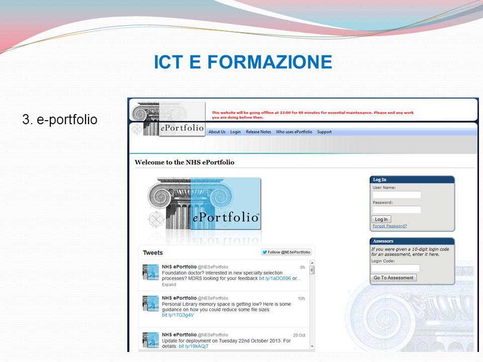 ICT E FORMAZIONE 3. e-portfolio