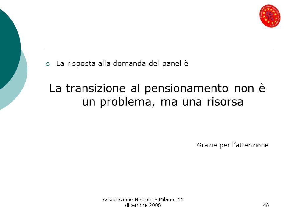 La transizione al pensionamento non è un problema, ma una risorsa