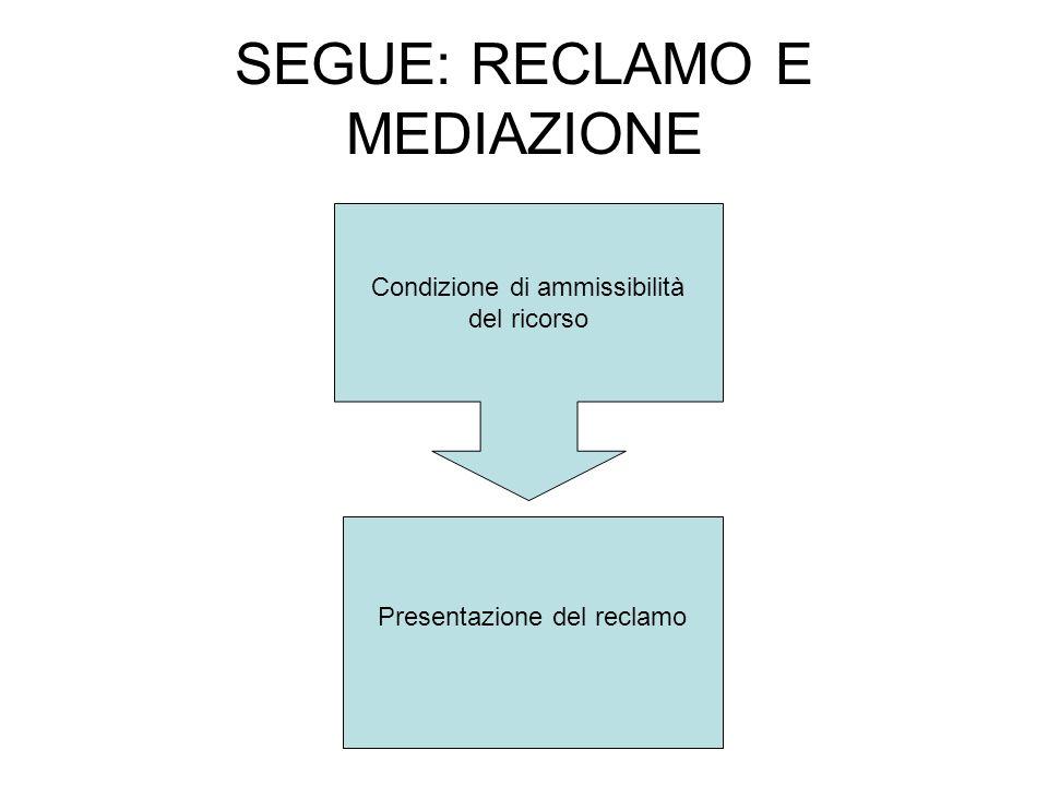 SEGUE: RECLAMO E MEDIAZIONE