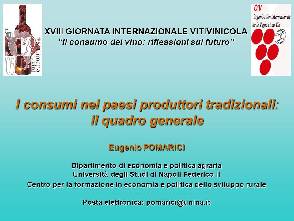 I consumi nei paesi produttori tradizionali: il quadro generale