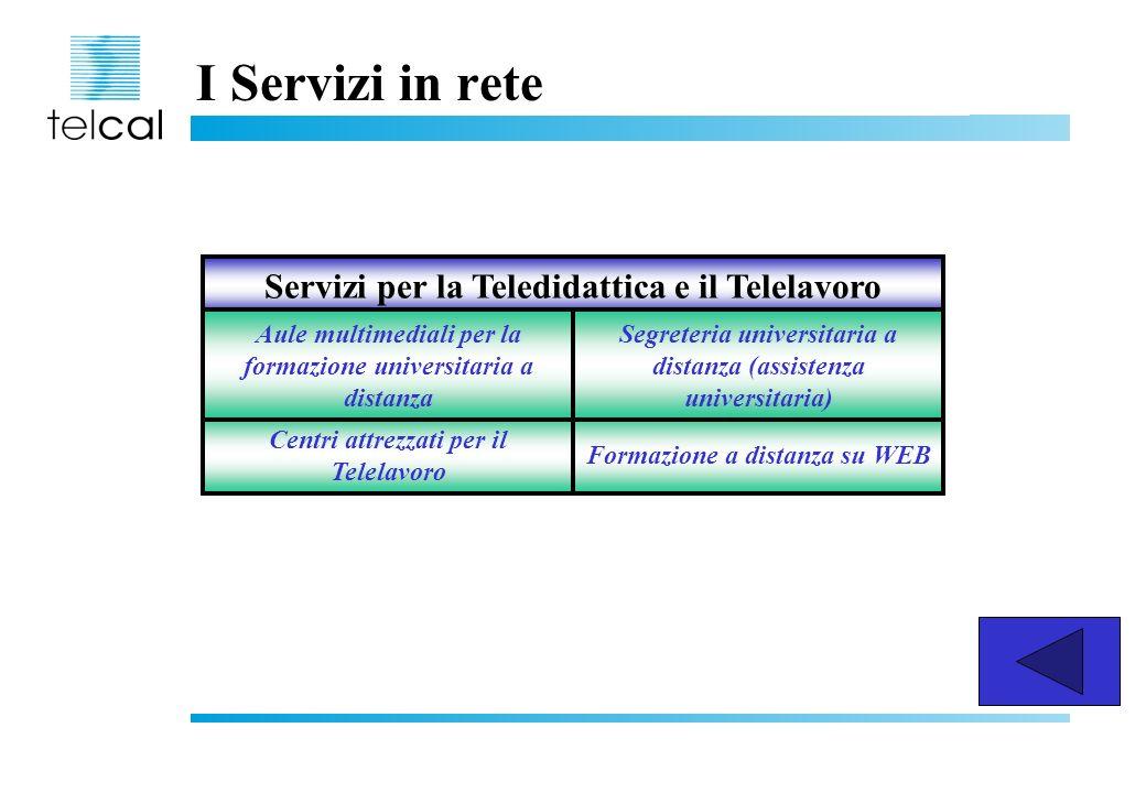 I Servizi in rete Servizi per la Teledidattica e il Telelavoro