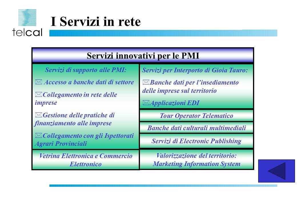 I Servizi in rete Servizi innovativi per le PMI