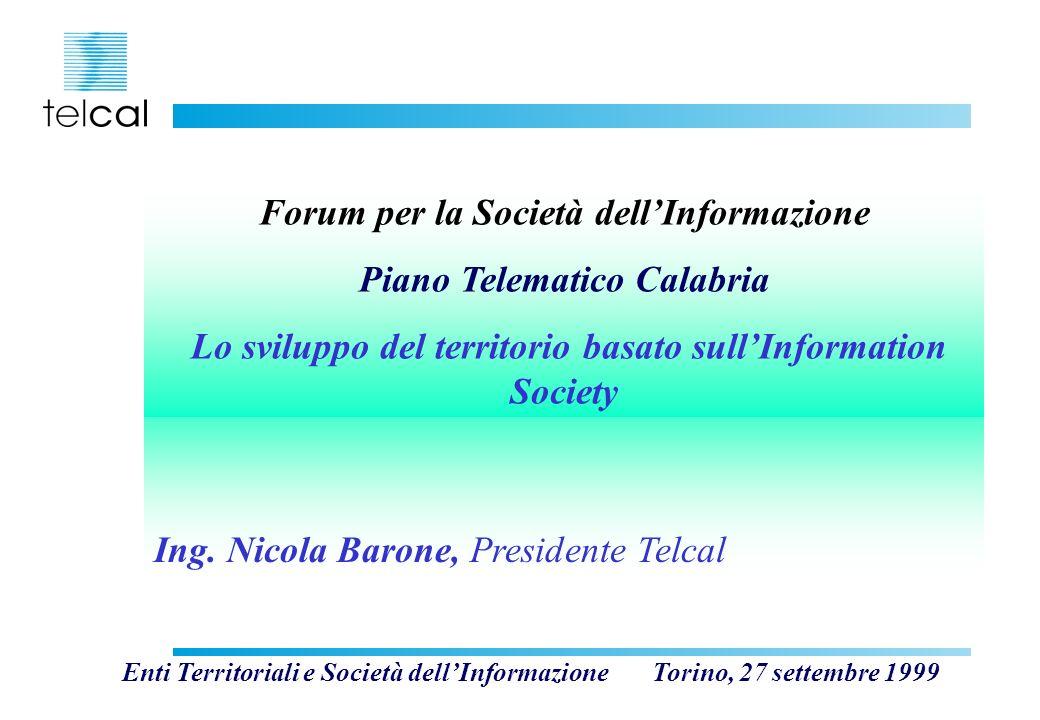 Forum per la Società dell'Informazione Piano Telematico Calabria