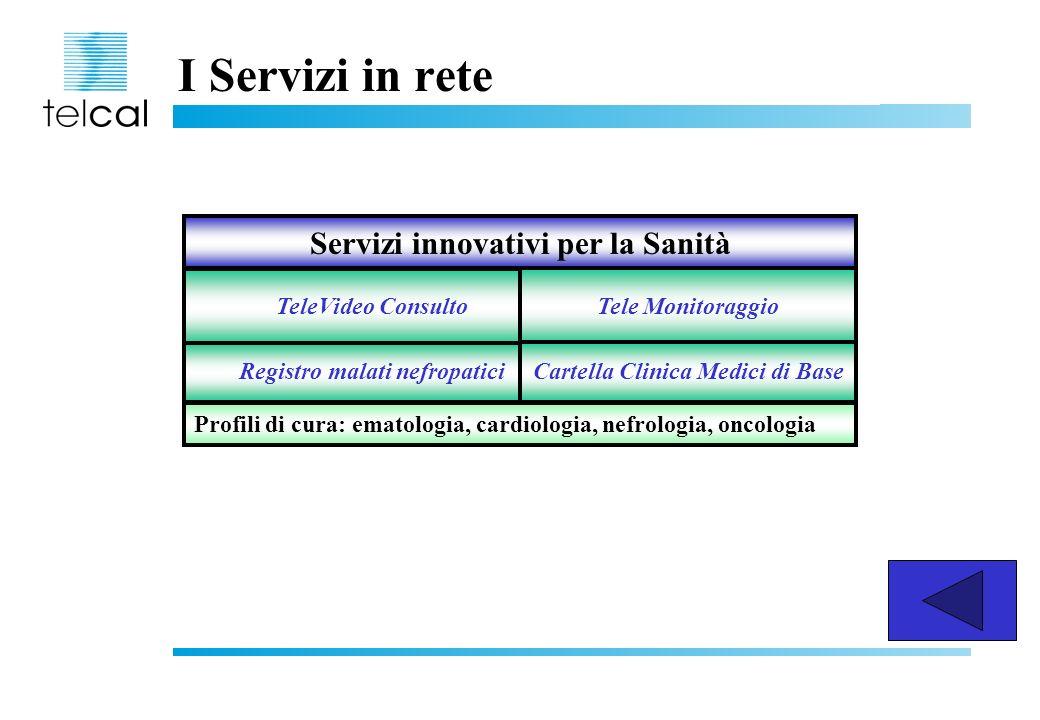 I Servizi in rete Servizi innovativi per la Sanità TeleVideo Consulto