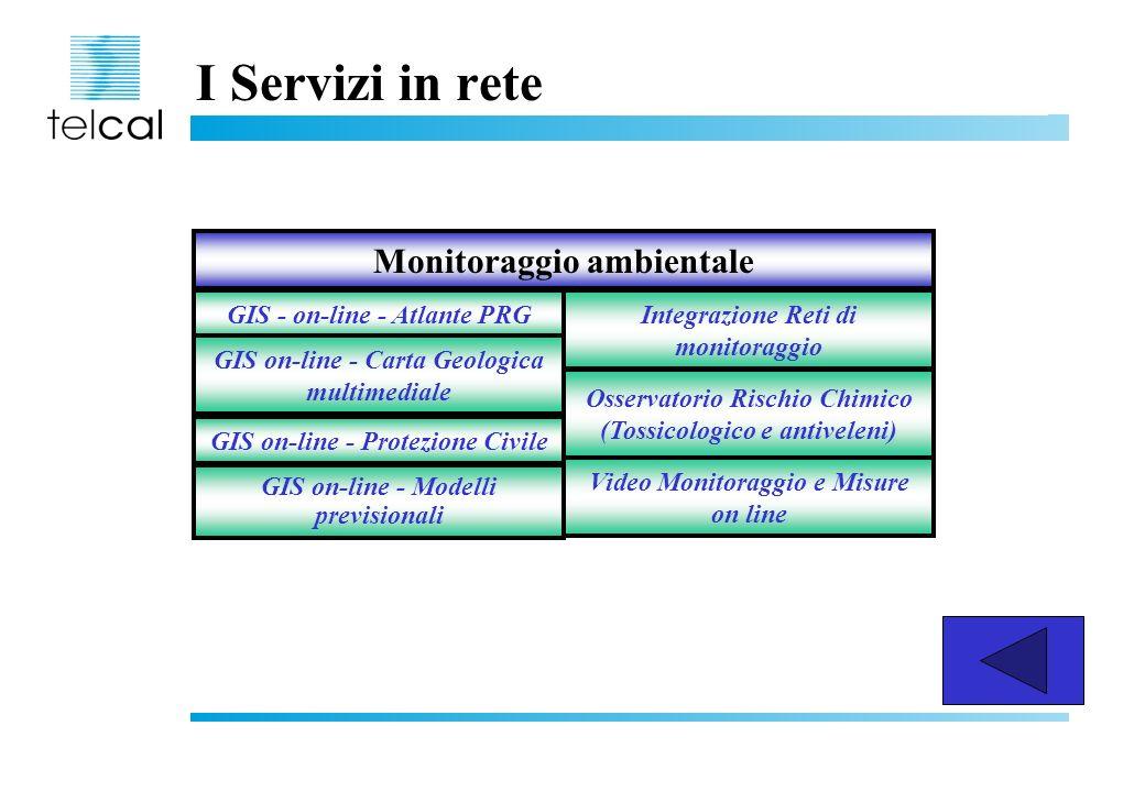 I Servizi in rete Monitoraggio ambientale GIS - on-line - Atlante PRG