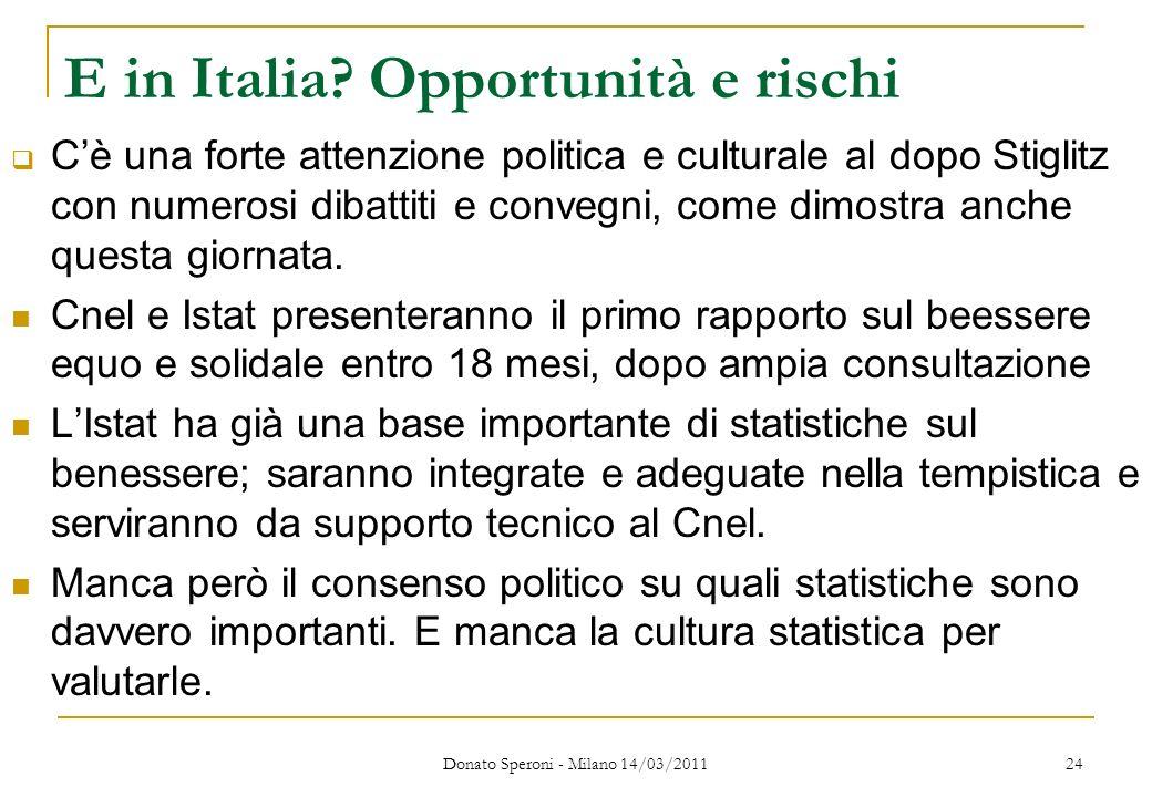 E in Italia Opportunità e rischi