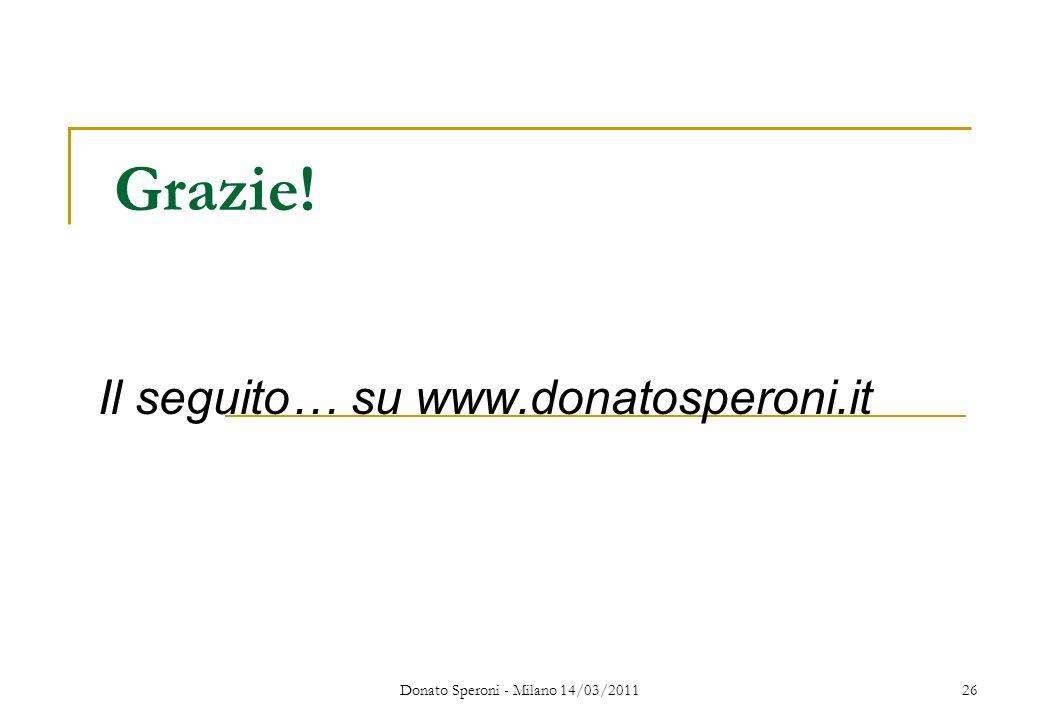 Il seguito… su www.donatosperoni.it