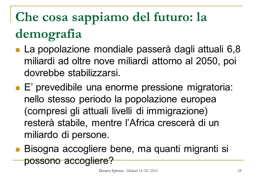 Che cosa sappiamo del futuro: la demografia