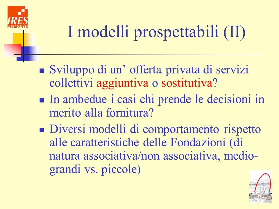 I modelli prospettabili (II)