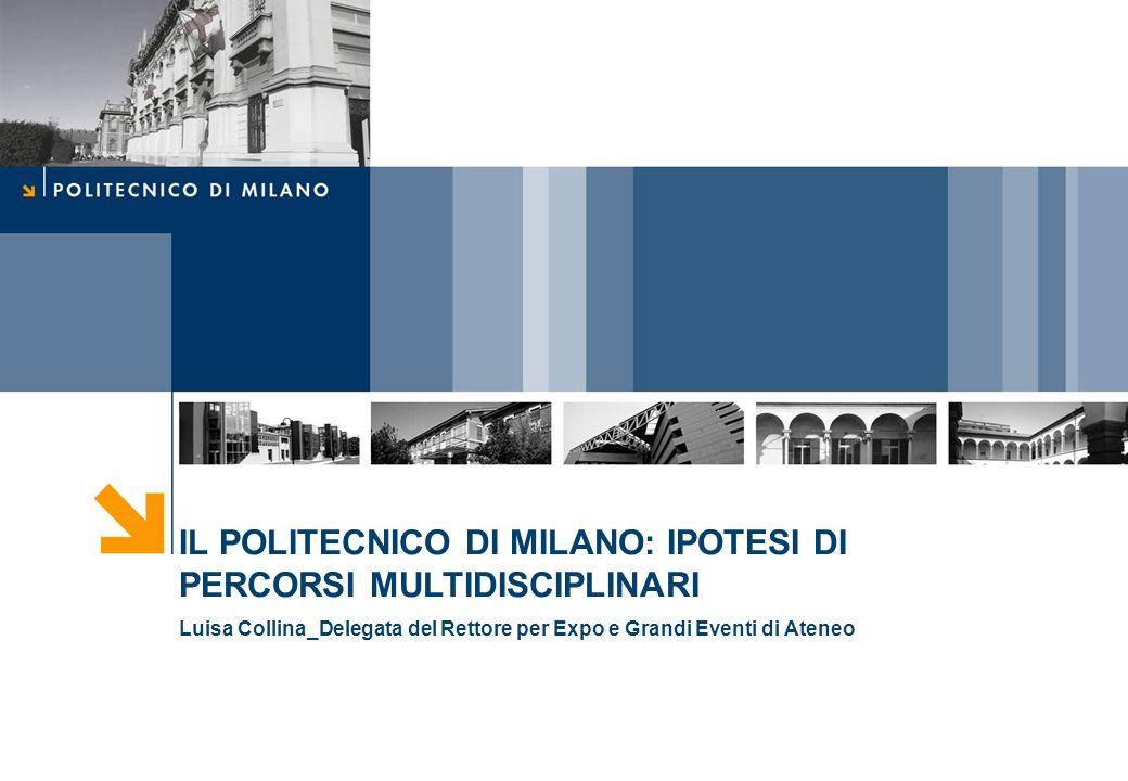 IL POLITECNICO DI MILANO: IPOTESI DI PERCORSI MULTIDISCIPLINARI