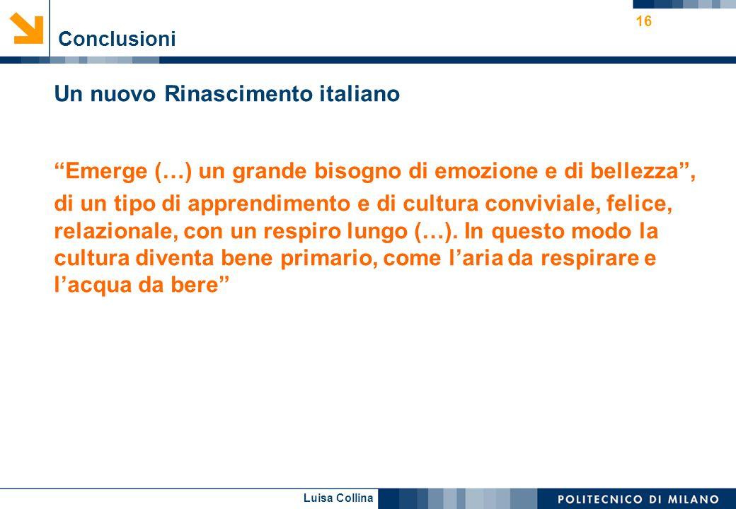 Un nuovo Rinascimento italiano