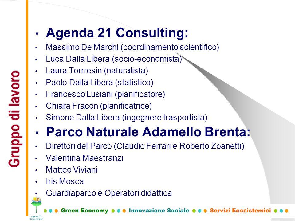 Gruppo di lavoro Agenda 21 Consulting: Parco Naturale Adamello Brenta: