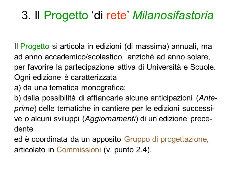 3. Il Progetto 'di rete' Milanosifastoria