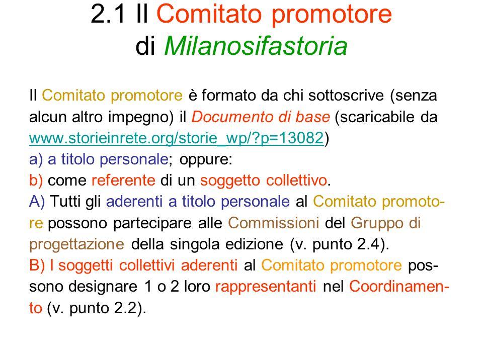 2.1 Il Comitato promotore di Milanosifastoria