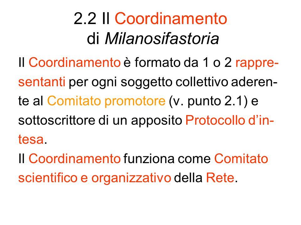 2.2 Il Coordinamento di Milanosifastoria