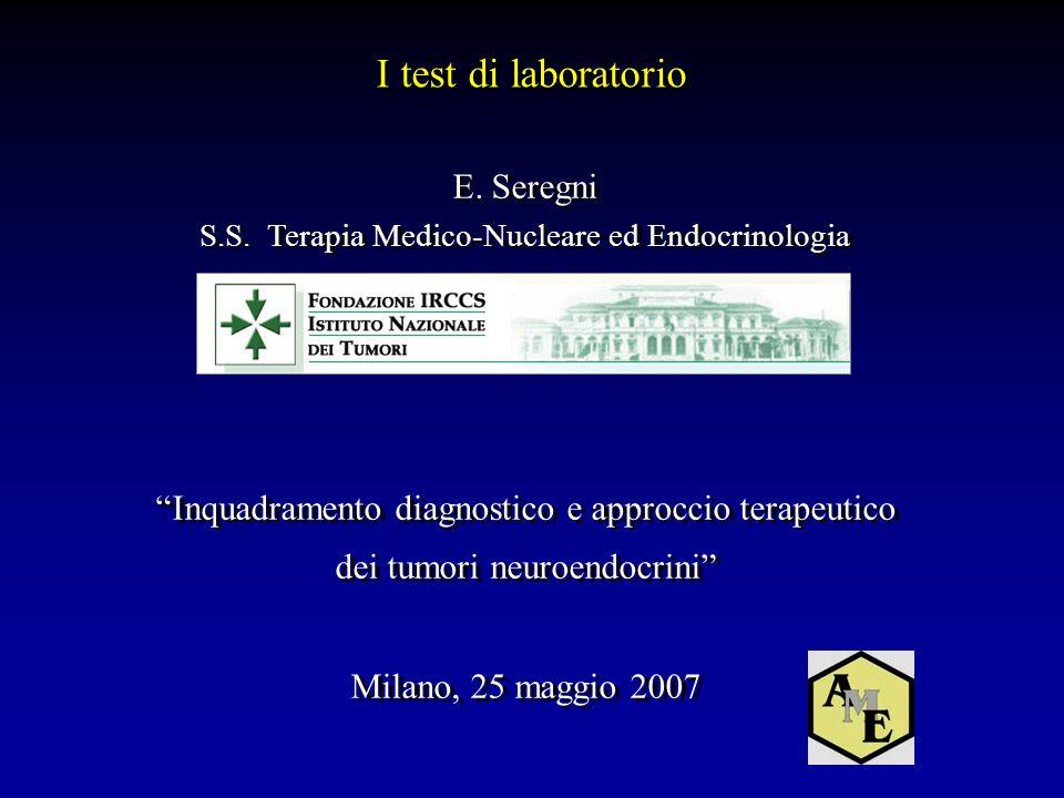I test di laboratorio E. Seregni