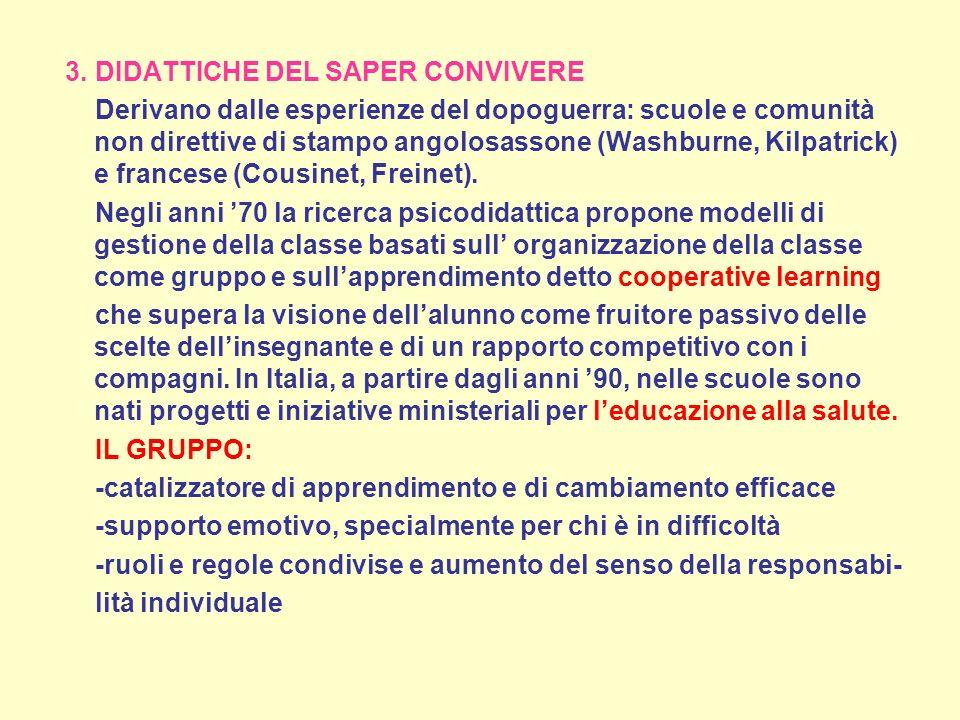 3. DIDATTICHE DEL SAPER CONVIVERE