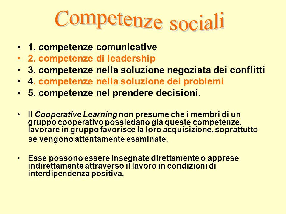 Competenze sociali 1. competenze comunicative