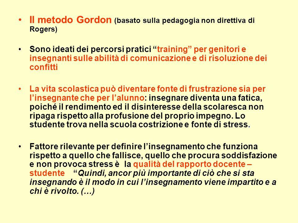 Il metodo Gordon (basato sulla pedagogia non direttiva di Rogers)