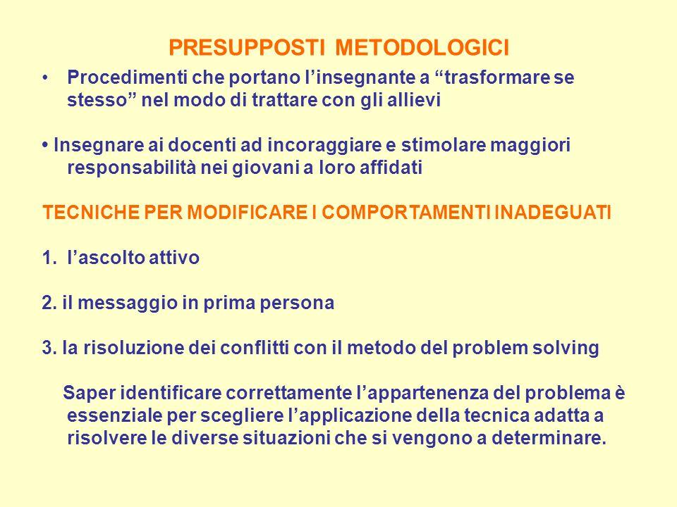 PRESUPPOSTI METODOLOGICI