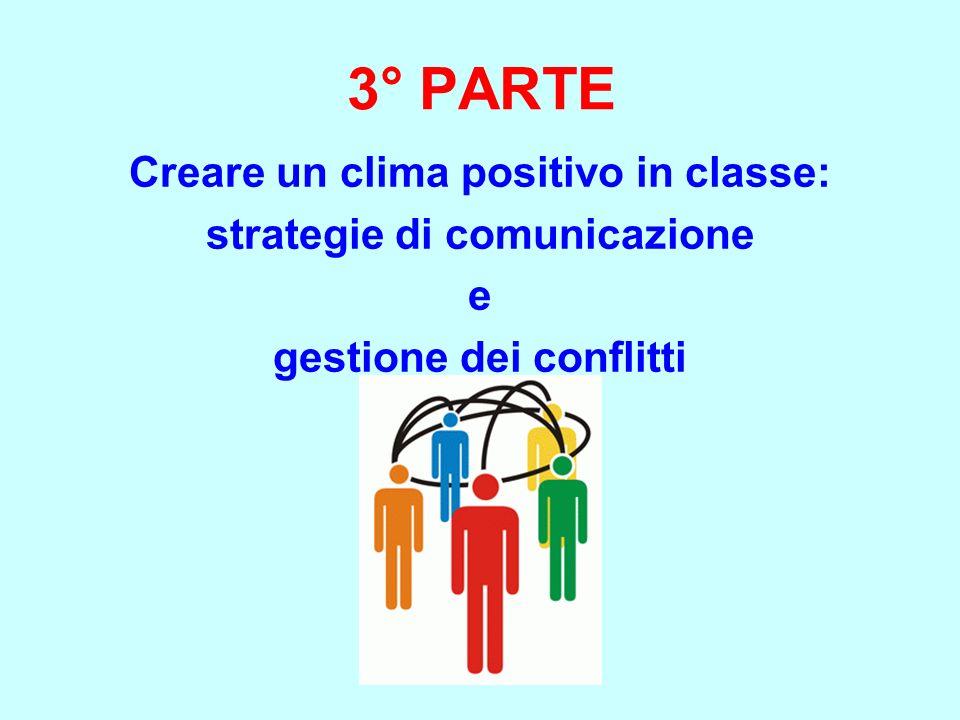 3° PARTE Creare un clima positivo in classe: