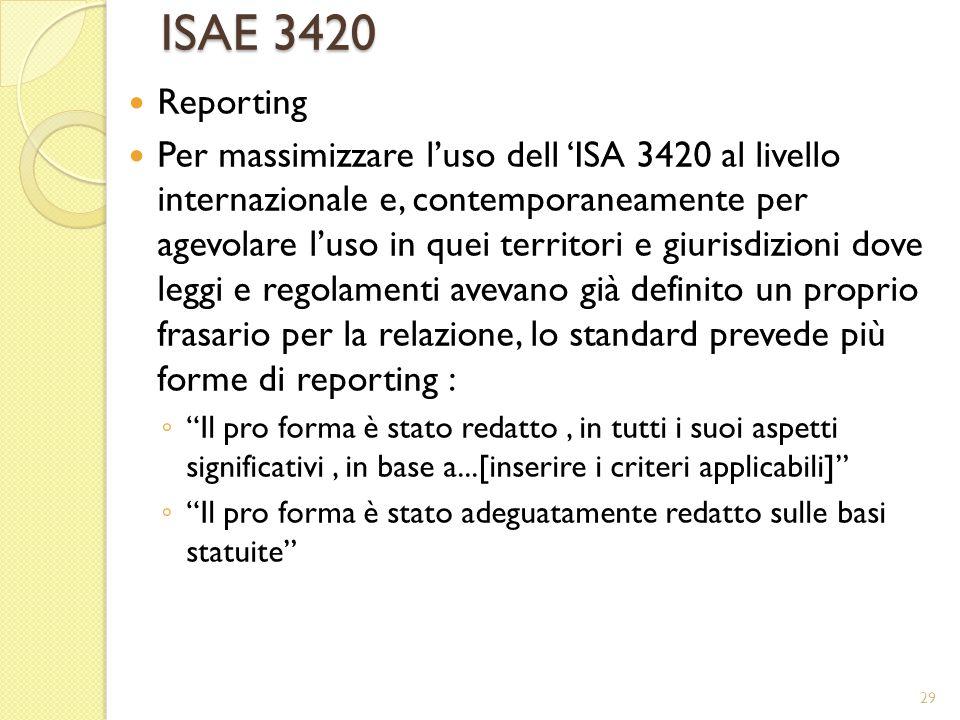 ISAE 3420 Reporting.