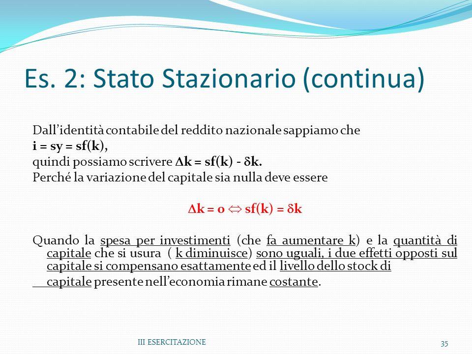 Es. 2: Stato Stazionario (continua)