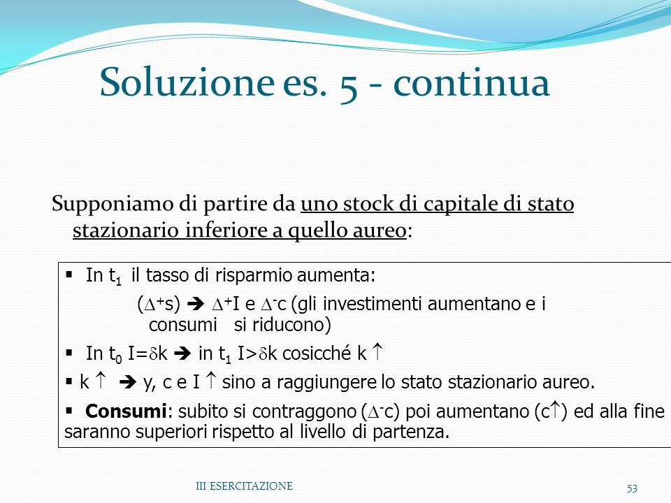 Soluzione es. 5 - continua