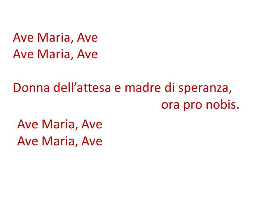 Ave Maria, Ave Donna dell'attesa e madre di speranza, ora pro nobis. Ave Maria, Ave