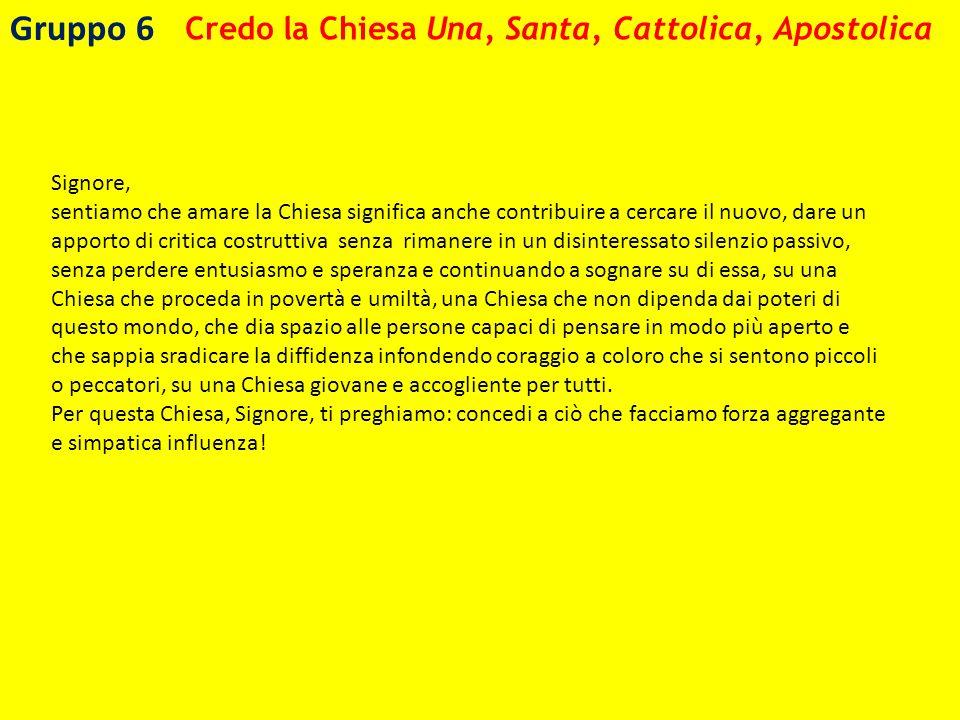 Credo la Chiesa Una, Santa, Cattolica, Apostolica