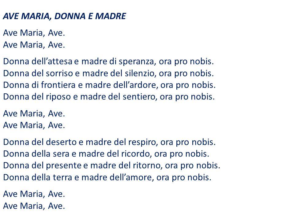AVE MARIA, DONNA E MADRE