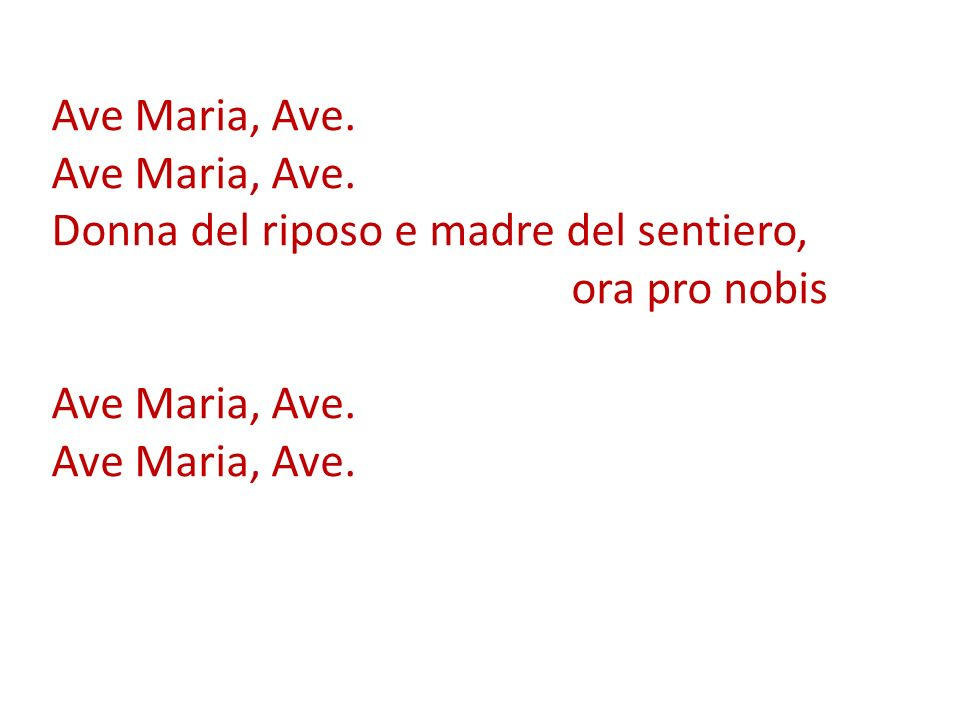 Ave Maria, Ave. Ave Maria, Ave.