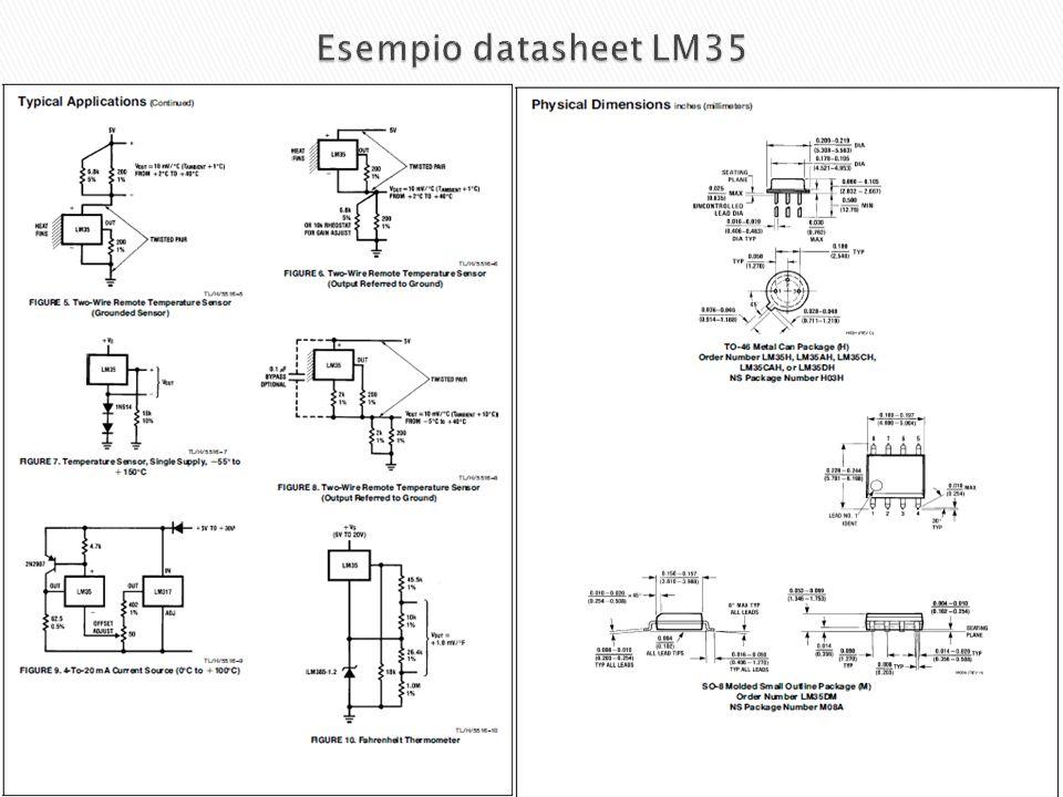 Esempio datasheet LM35