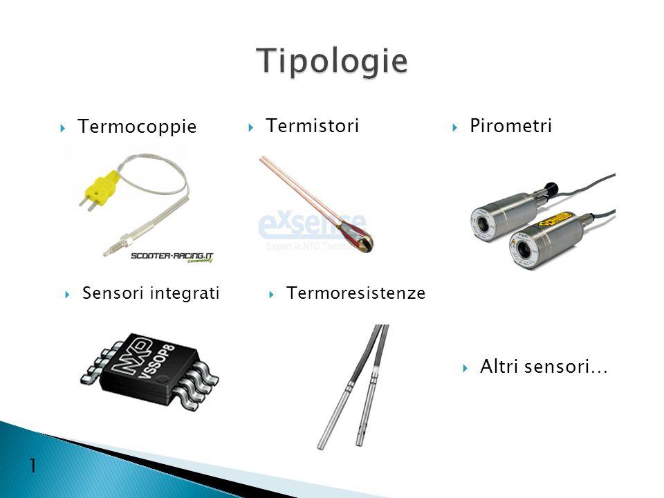Tipologie Termocoppie Termistori Pirometri Altri sensori… 1