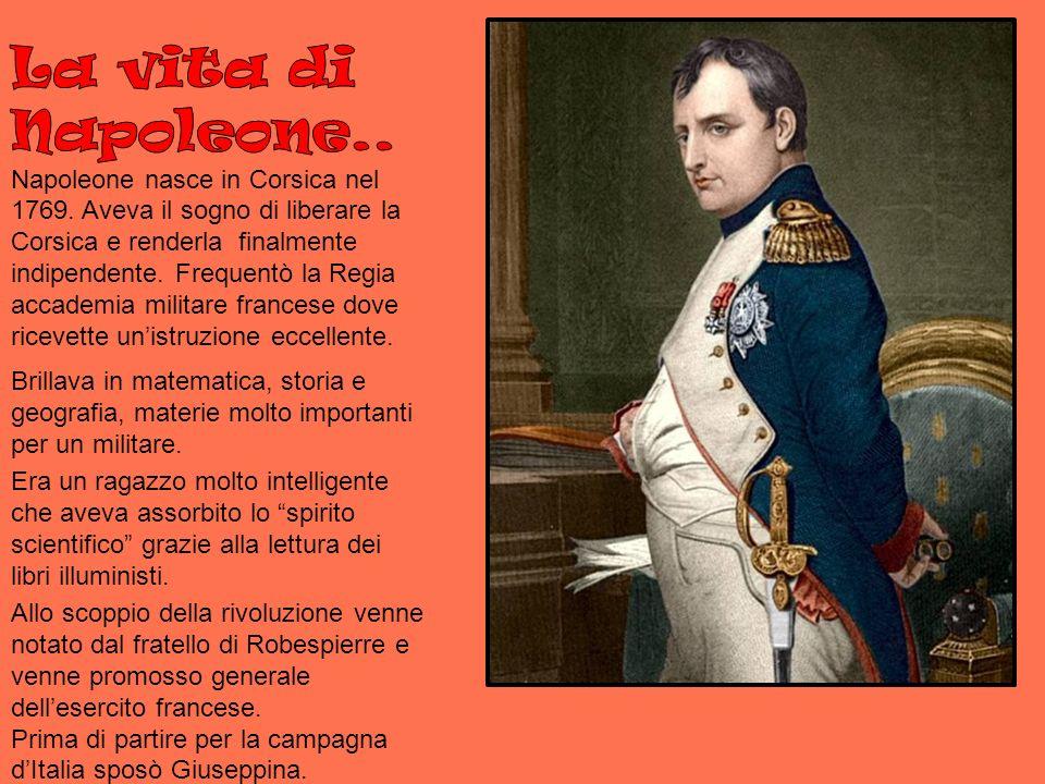 La vita di Napoleone. Napoleone nasce in Corsica nel 1769