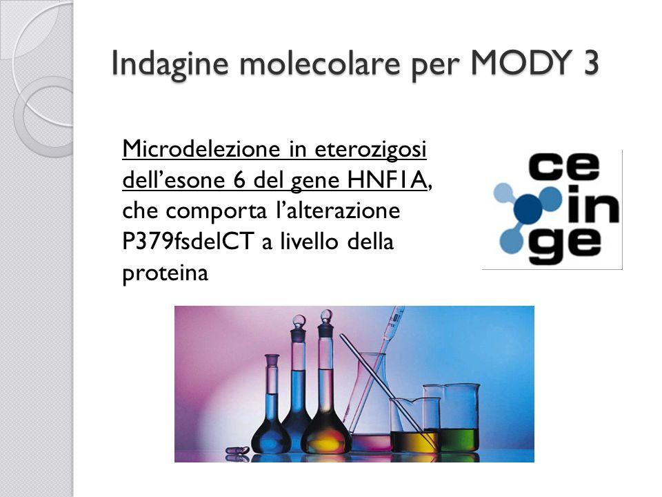 Indagine molecolare per MODY 3