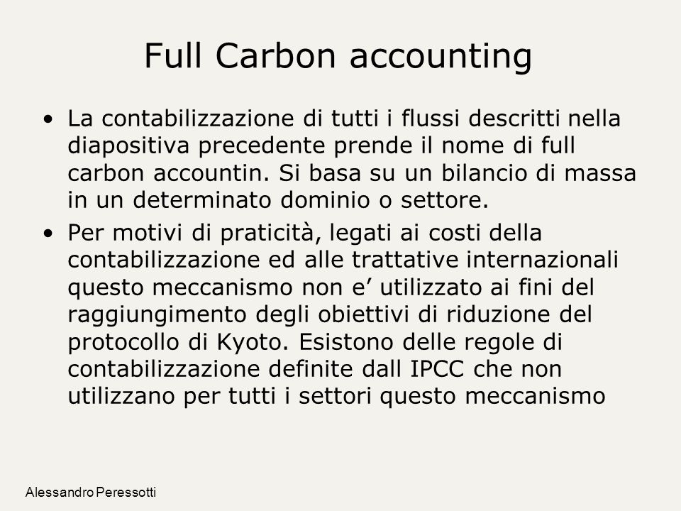 Full Carbon accounting